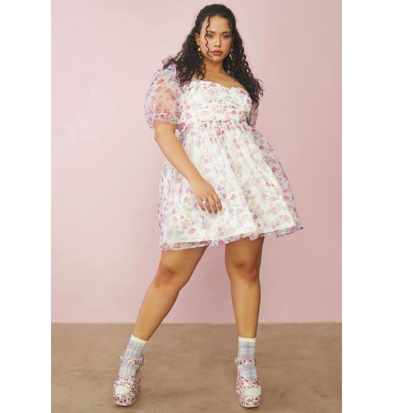 Sugar Thrillz Always On A Whim Chiffon Babydoll Dress