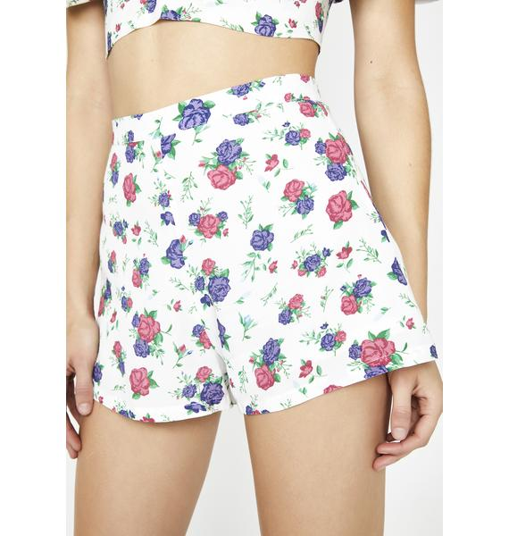 Sugar Thrillz Love Nymph Floral Shorts