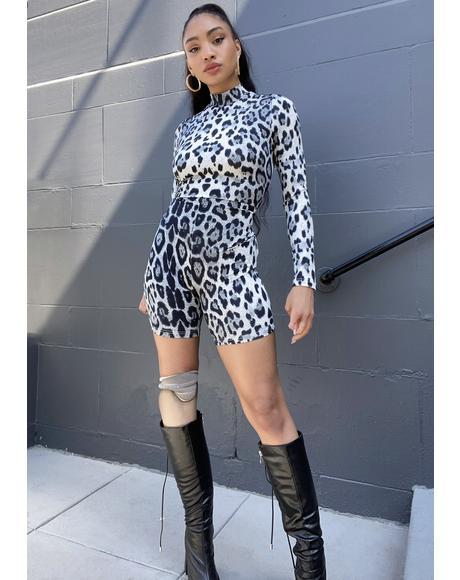 Extra Leopard Print Unitard