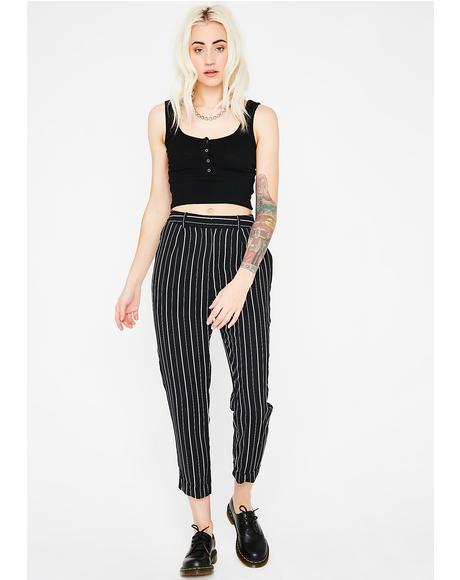 Keep Ur Cool Stripe Trousers
