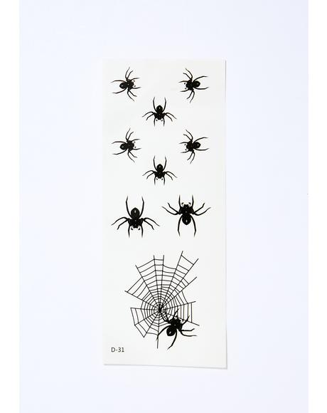 Creepy Crawly Spider Tattoos