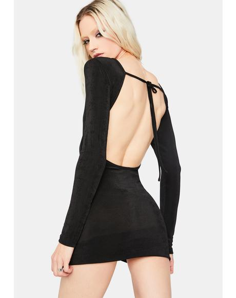 Feeling Flirtatious Open Back Mini Dress
