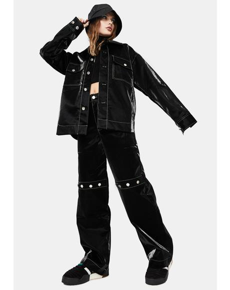 Rebel Faux Leather Trousers
