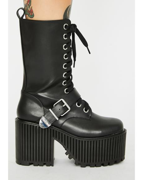 Slay Her Platform Boots