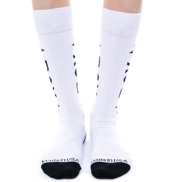 BOY London BOY Star Calf Socks