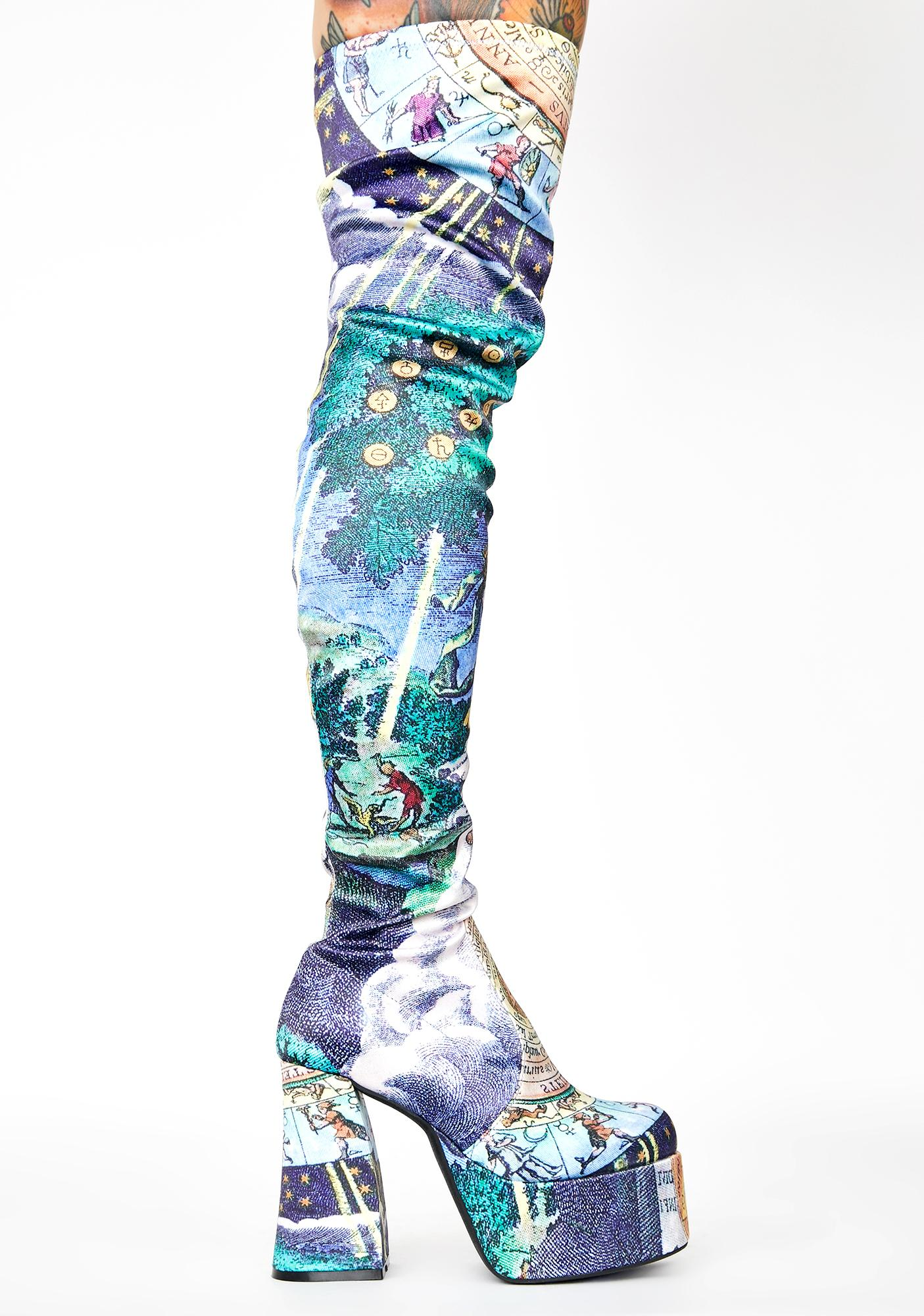 HOROSCOPEZ Illusions N' Delusions Thigh High Boots
