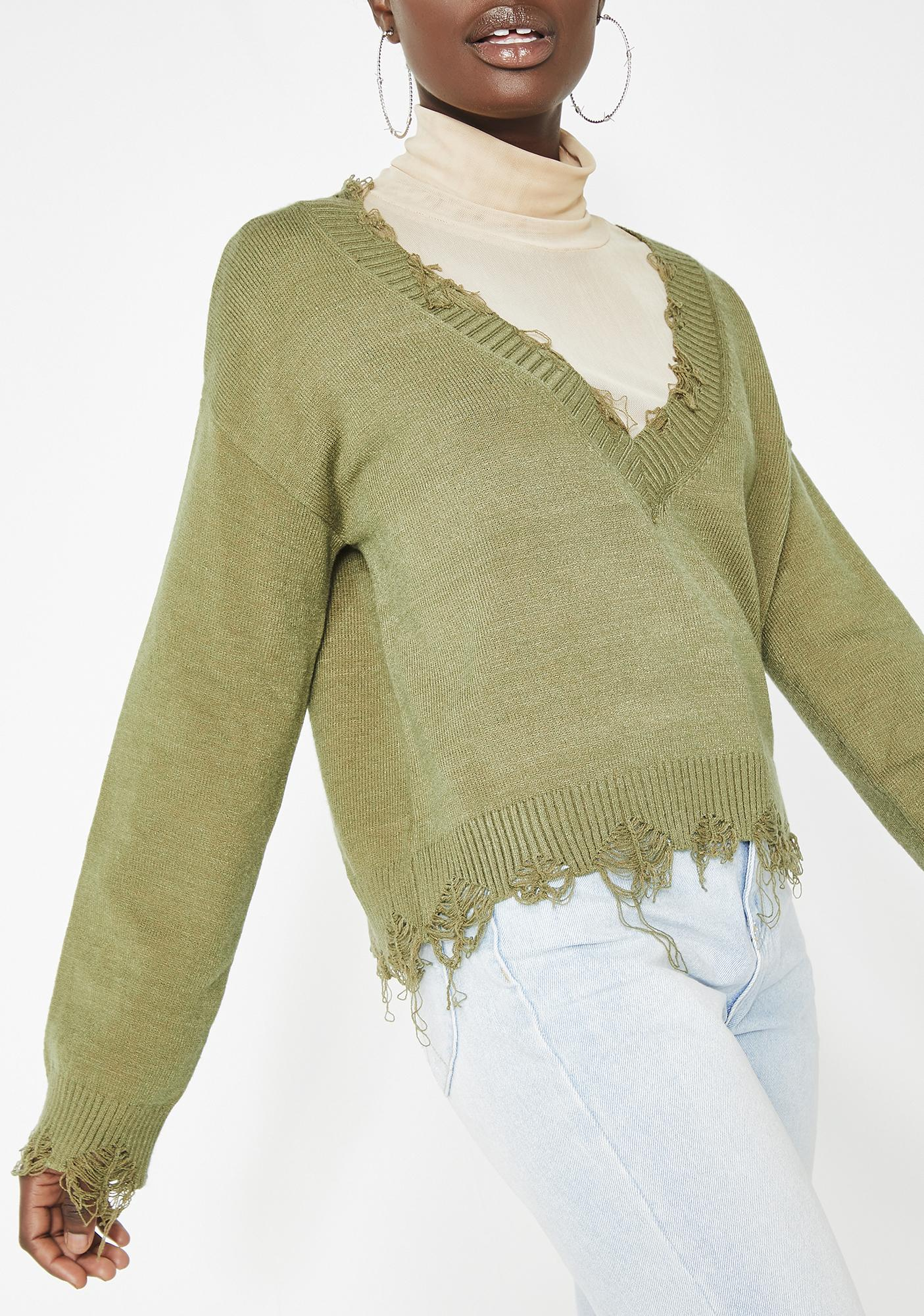 Unfinished Business Knit Sweater