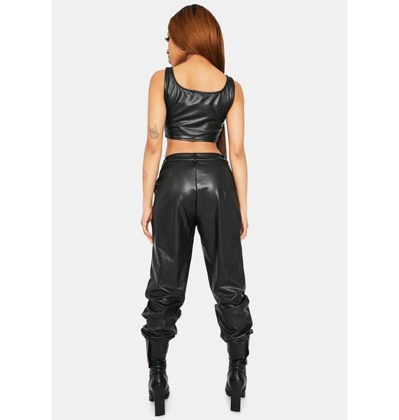 Onyx Not Shy Vegan Leather Pant Set