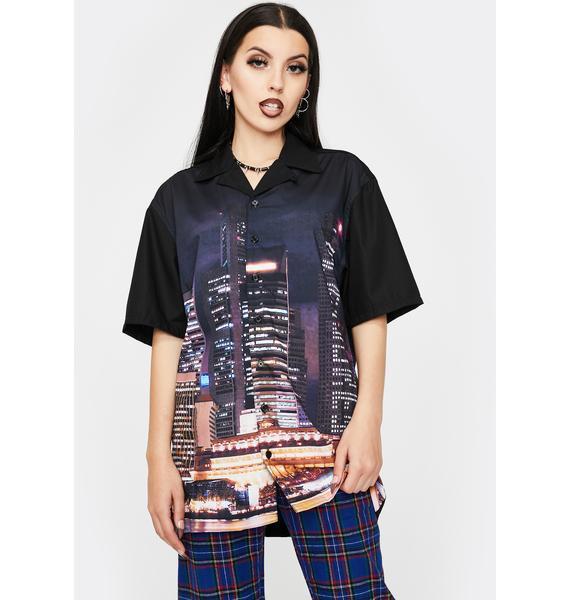 Pleasures Metro Button Down Shirt