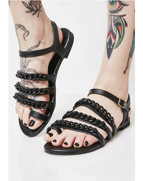 Link Up Chain Sandals