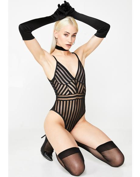 Hard To Get Sheer Bodysuit