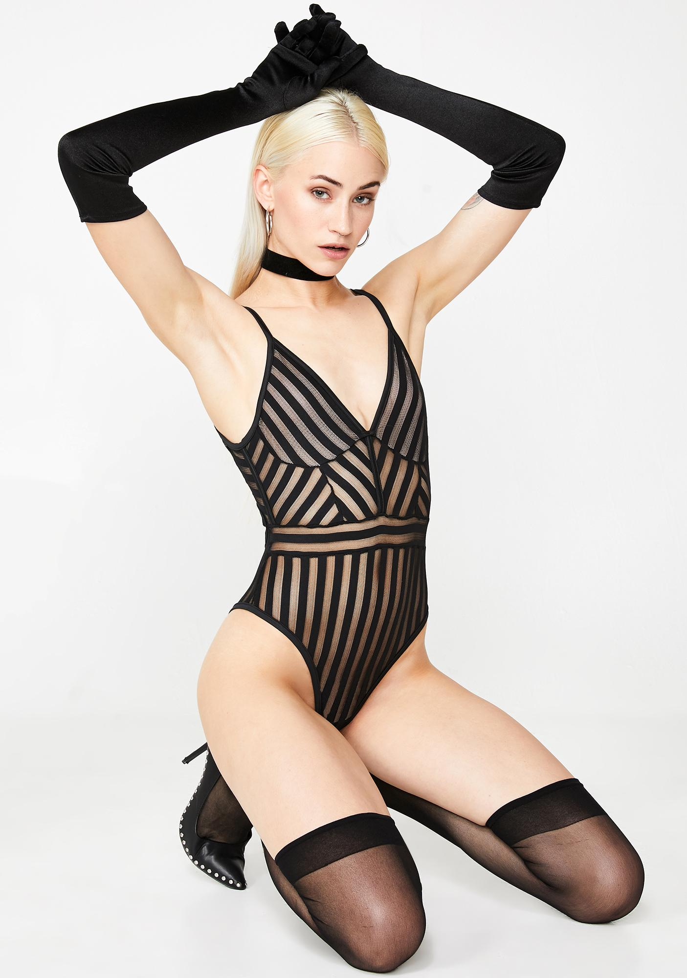 Hard To Get Sheer Bodysuit