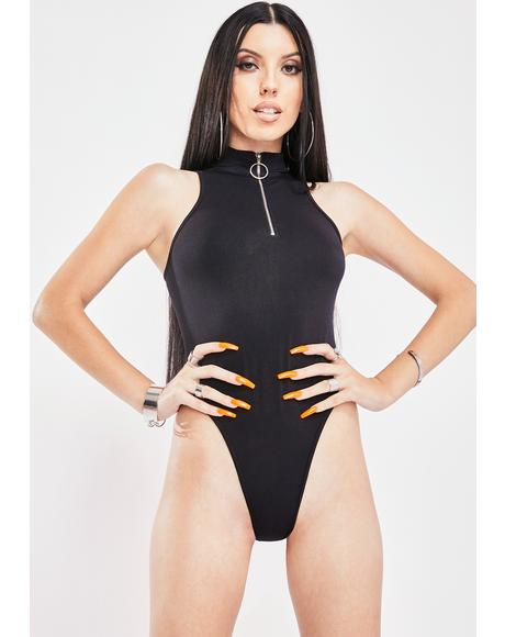 Love A Challenge Zip Up Bodysuit