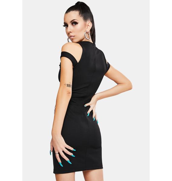 Criminal Damage Metal Strappy Mini Dress
