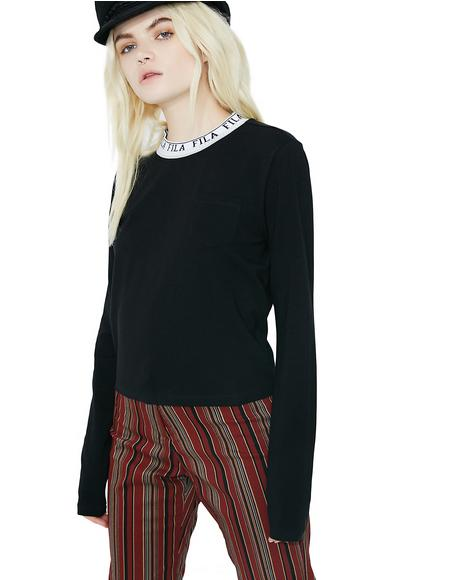 Onyx Rebecca Long Sleeve Top