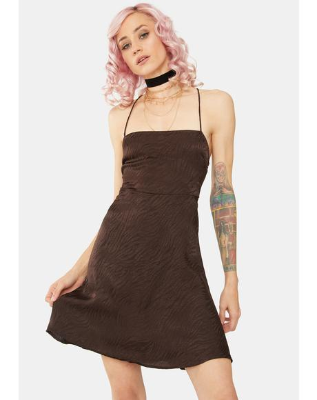 Brown Zebra Enif Mini Dress