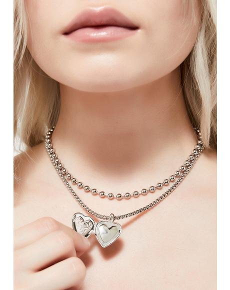For Evermore Locket Necklace