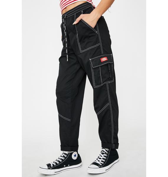 Dickies Girl Black Cropped Cargo Pants