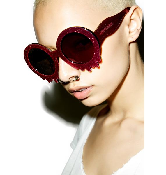 Hayley Elsaesser Pink Slime Time Sunglasses