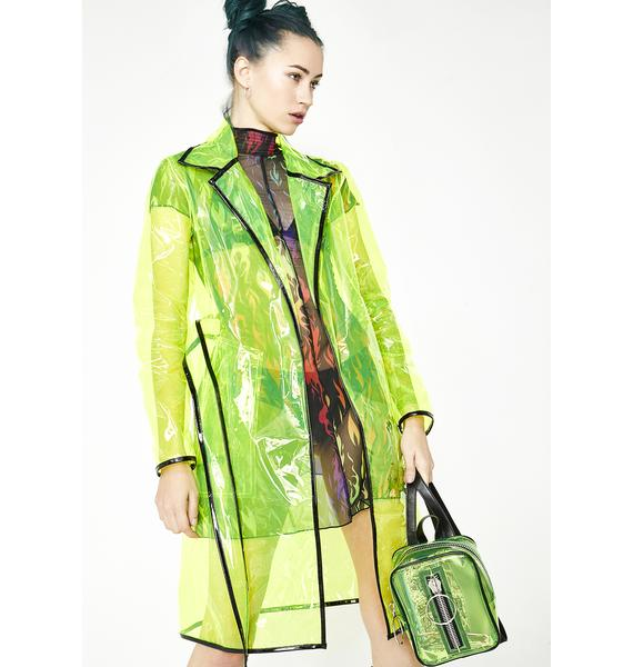 Current Mood Matrixx Slime Clear Raincoat