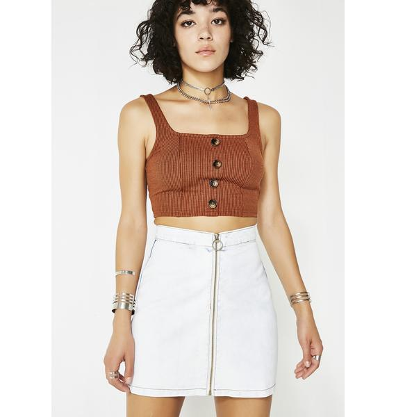 Glamorous Not Going Back Denim Skirt