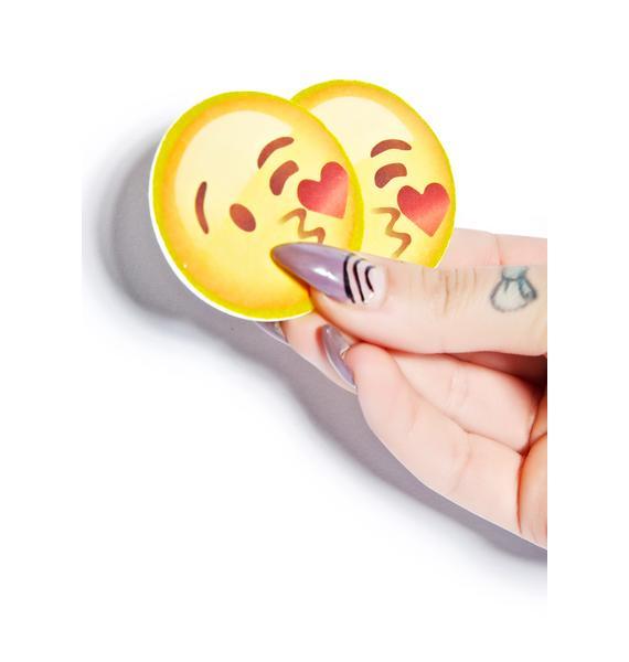 Kissy Face Emoji Pasties