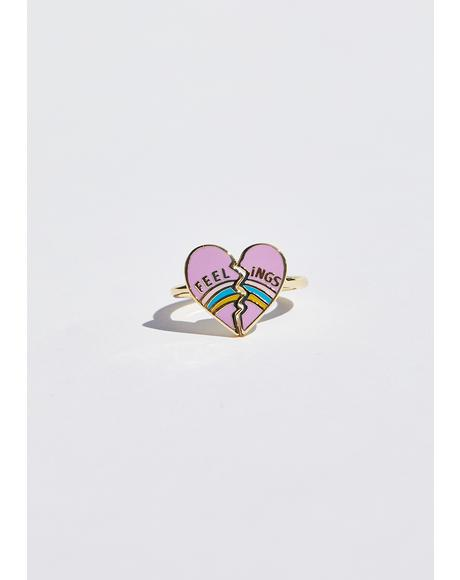 Feelings Heart Ring