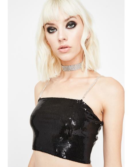 Illuminated Euphoria Sequin Crop Top