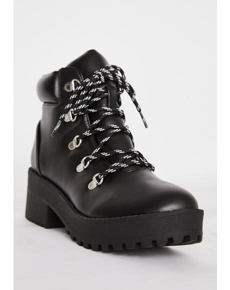 Sky Scraper Lace Up Boots