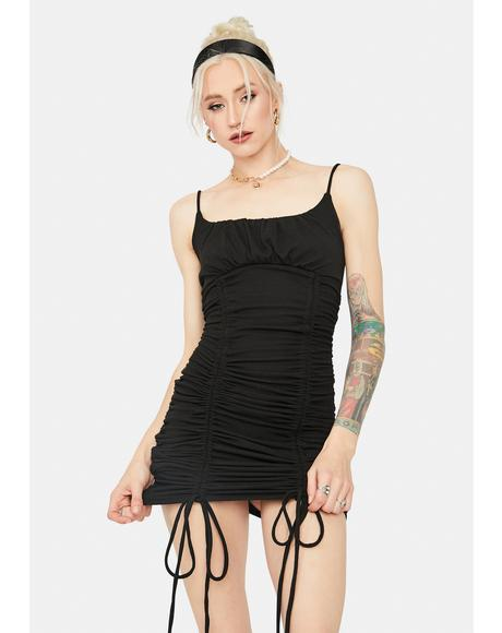 Only A Feeling Ruched Slip Dress
