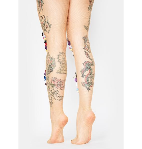 Glorious Heart Of Gold Floral Tights