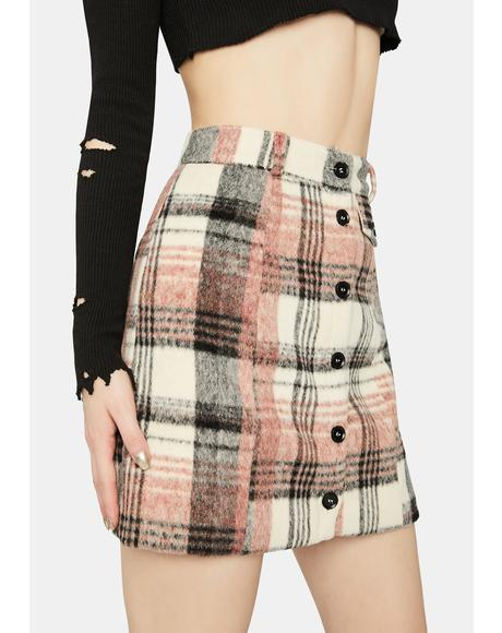 Pretty and Plaid Mini Skirt