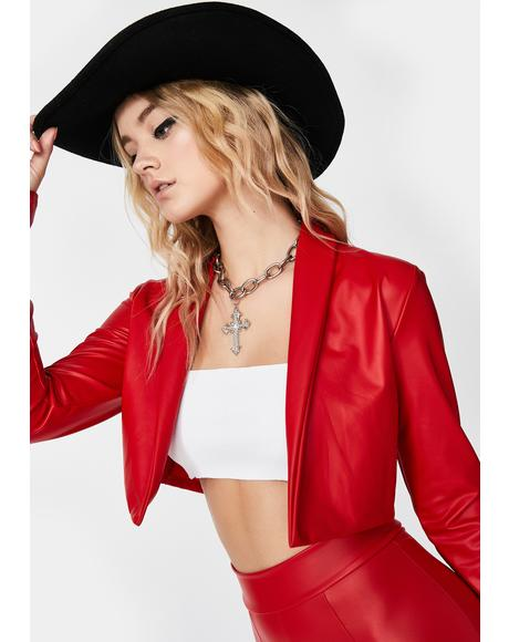 Blaze Let's Ride Cropped Jacket