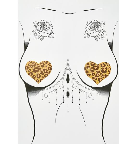 Pastease Cheetah Heart Pasties