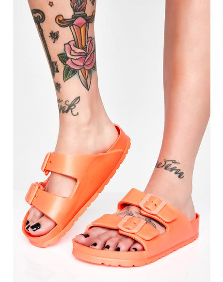 Sweet Electric Beach Buckle Sandals
