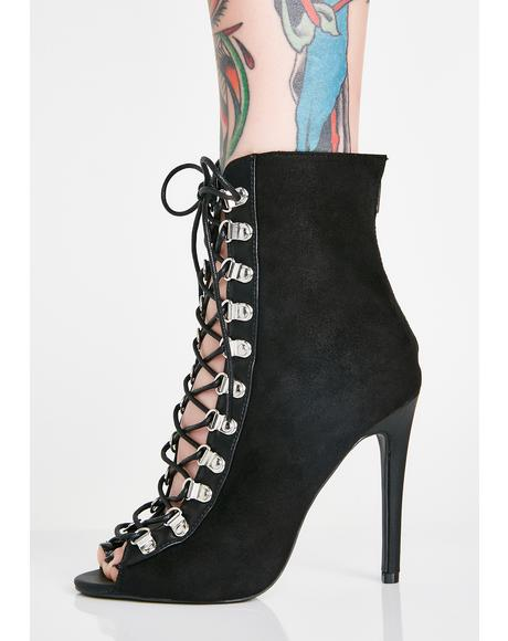 In The Night Lace-Up Heels