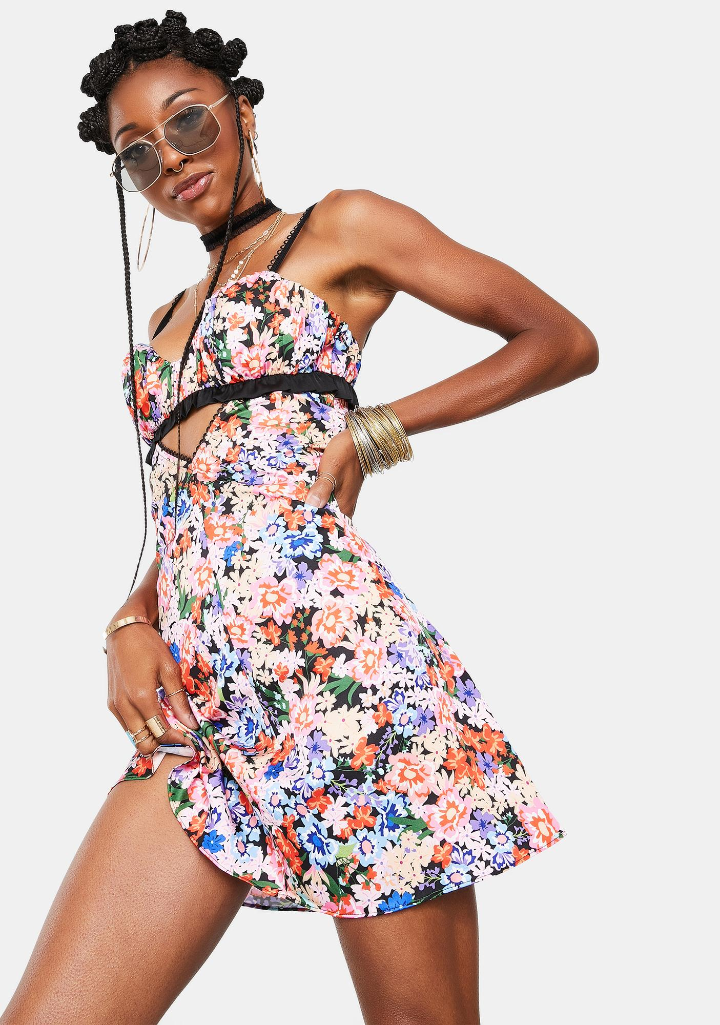 For Love & Lemons Bouquet Cami Dress