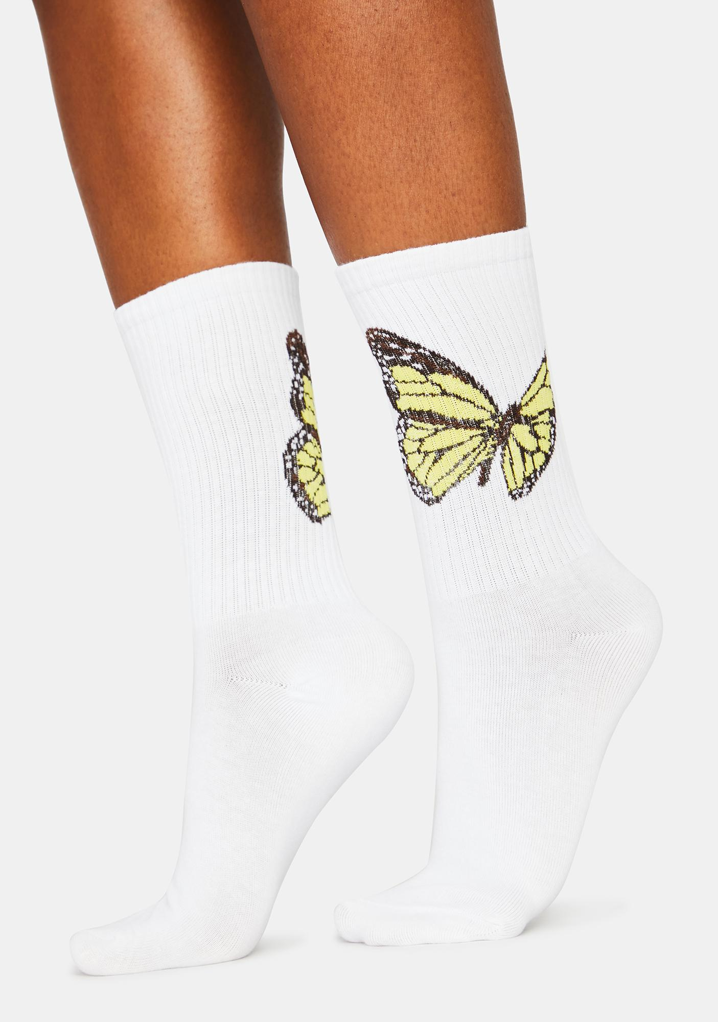 Flutter To Me Crew Socks
