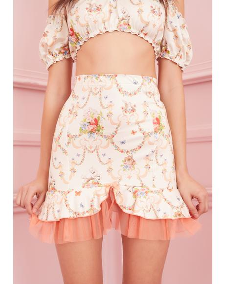 Lush Opulence Satin Skirt