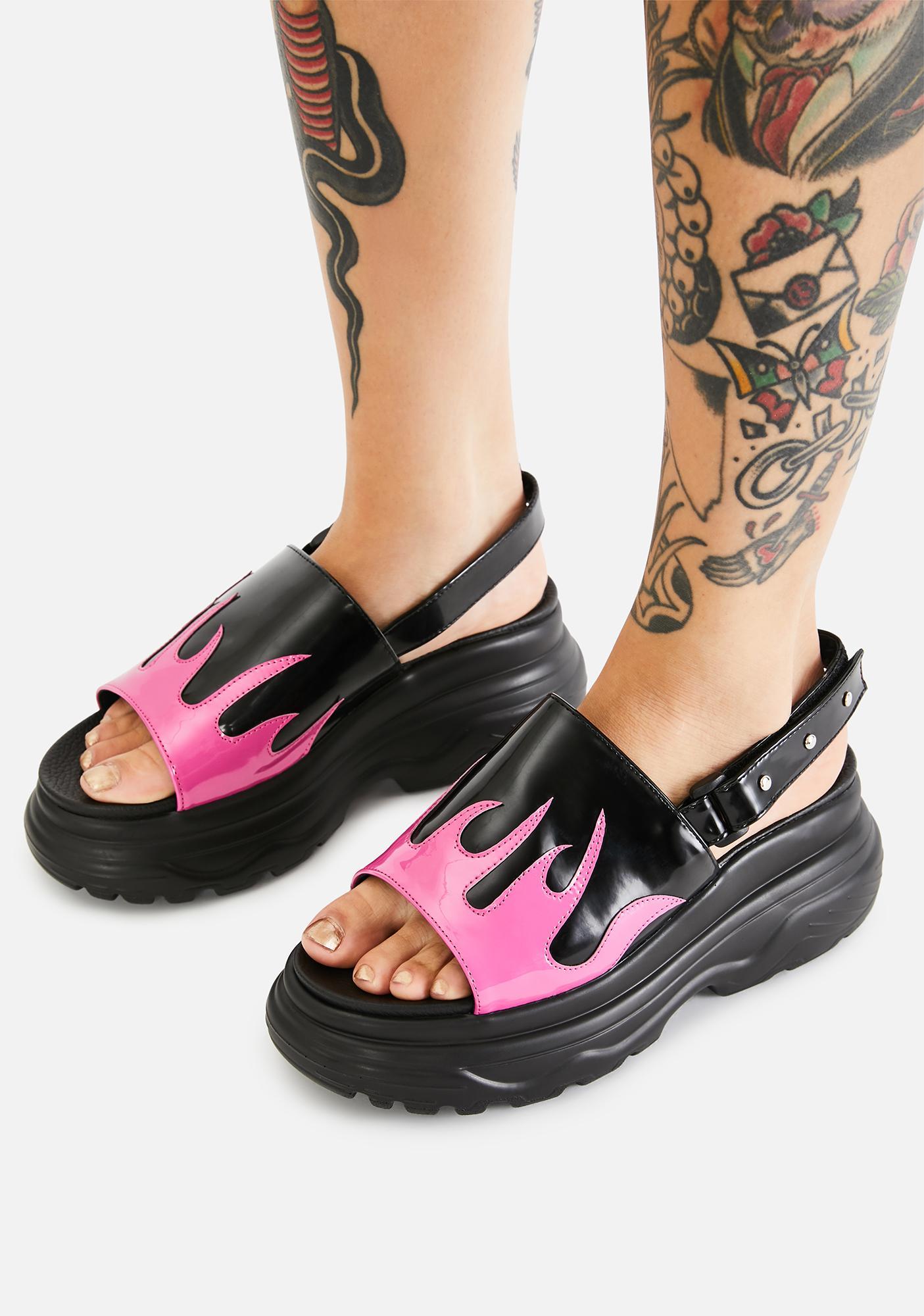 Koi Footwear Pink Ebo Flame Sandals