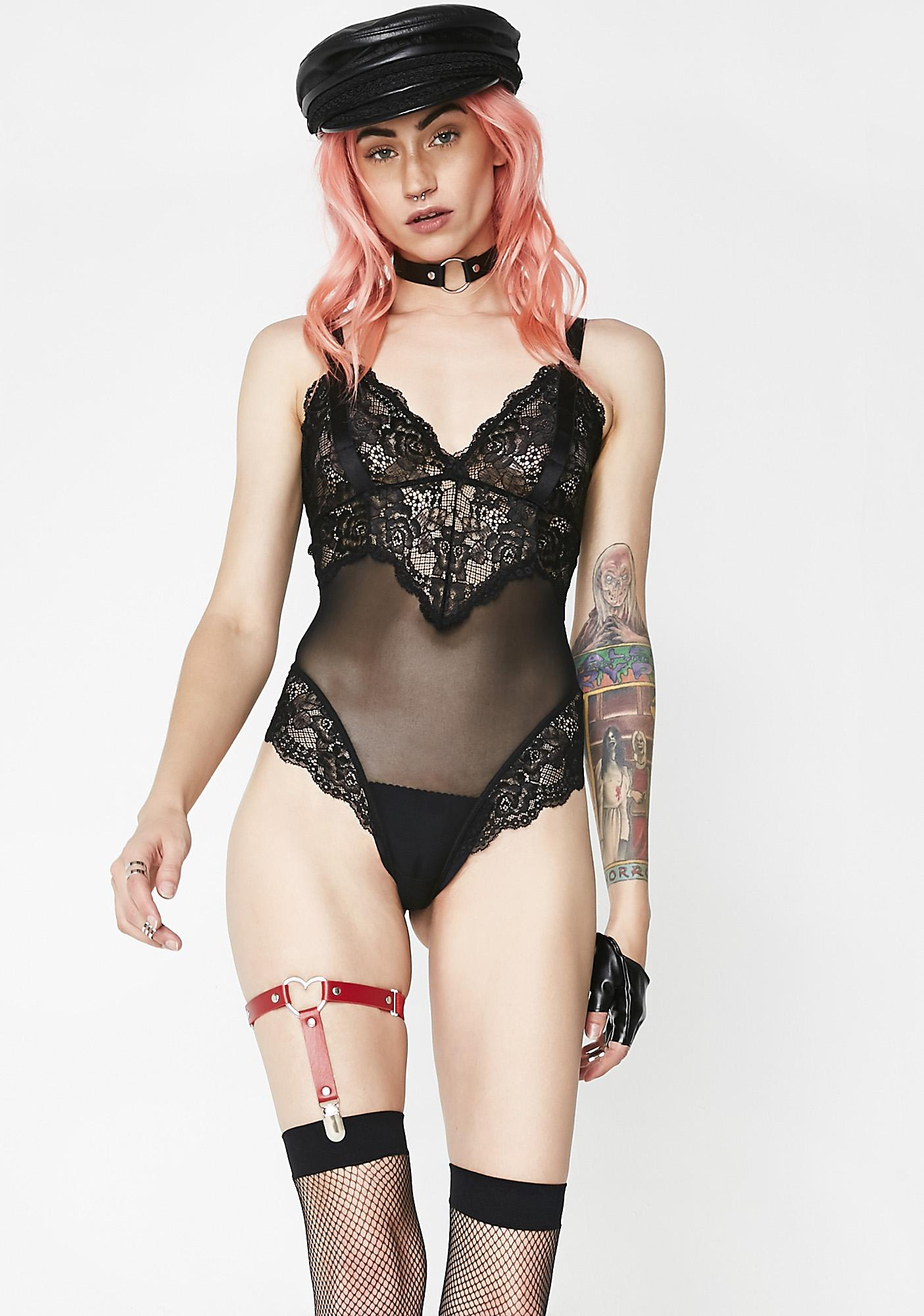 Next to Nothing Moonlight Lolita Lace Bodysuit