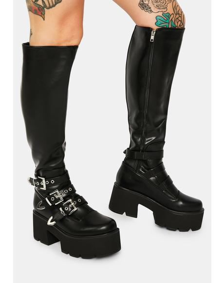 Polly Rocket Knee High Boots