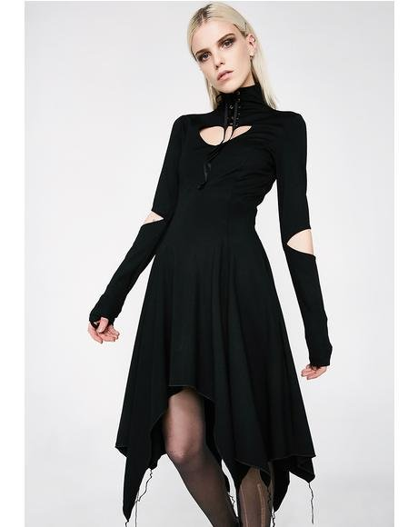Gothic Heart Asymmetrical Dress