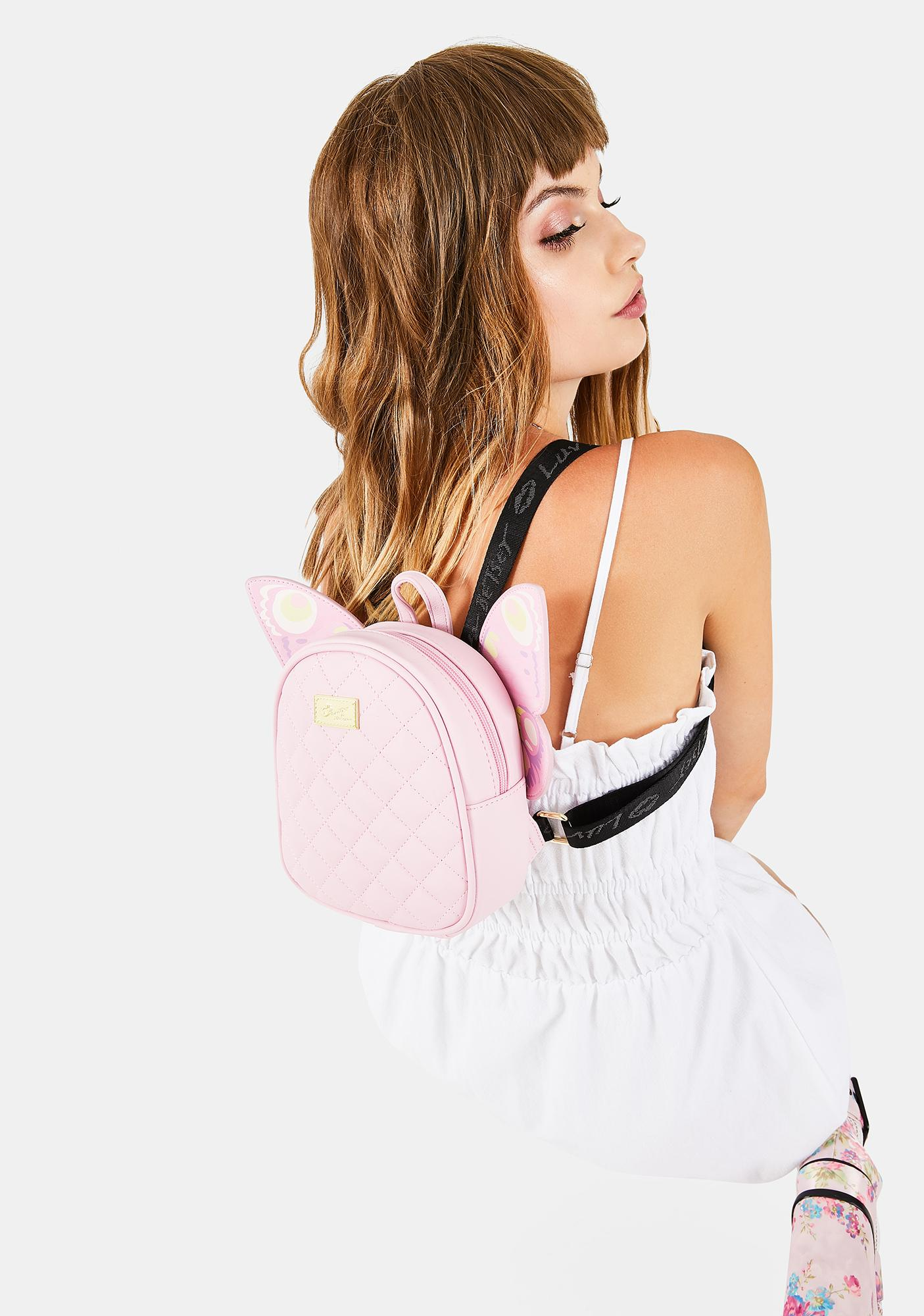 Betsey Johnson Pink Butterfly Backpack