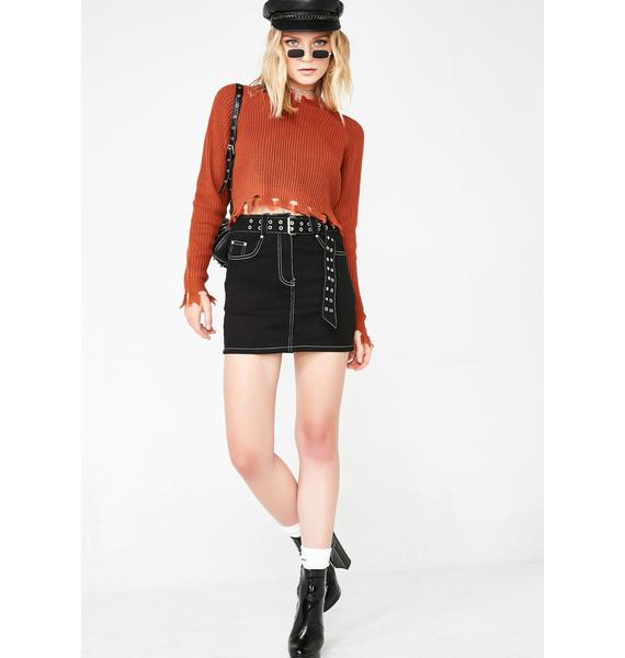 Get Live Belted Mini Skirt