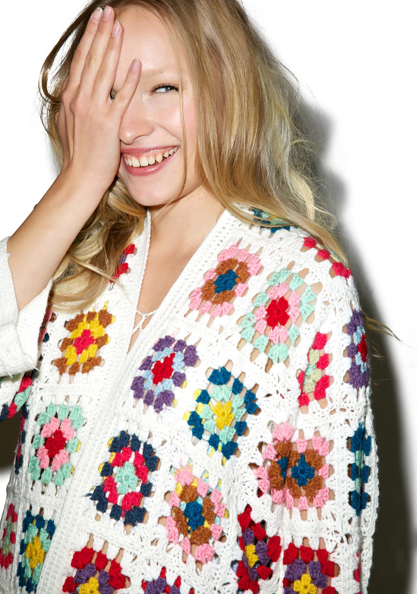 So Kitsch Crochet Cardigan