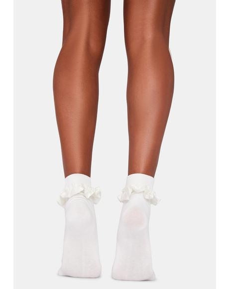 Cupcakes N' Cream Ruffle Ankle Socks