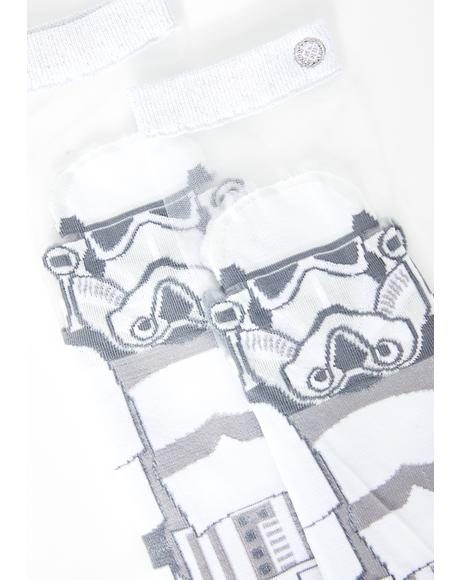 Storm Trooper Monofilament Socks