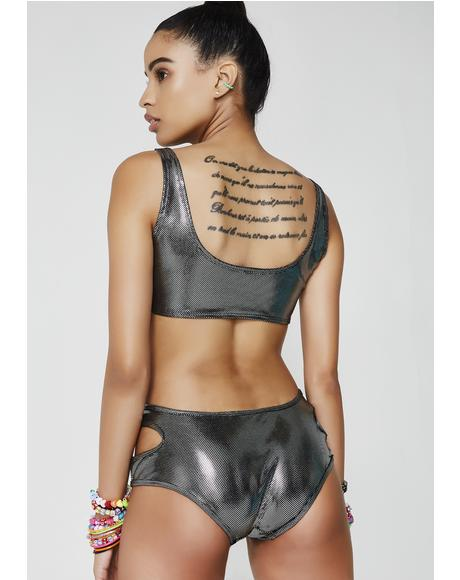 Metal Suckerpunch Cut-Out Bodysuit