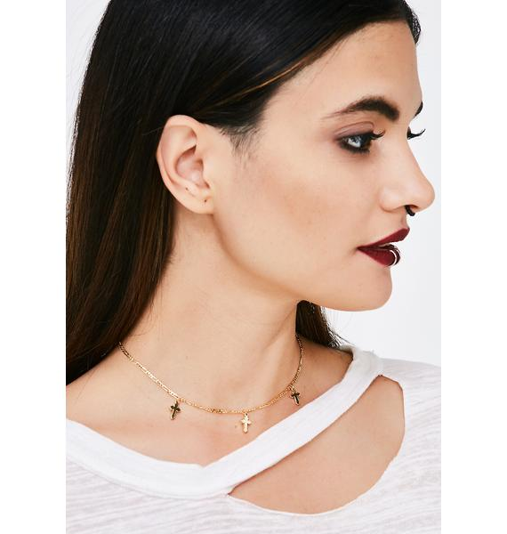 Life Of Sin Cross Choker